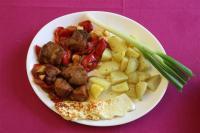 Meso, krompir i sir